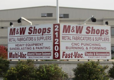 Custom Business Sign & Light Brackets