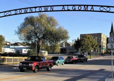 Custom Ornamental Algoma City Sign